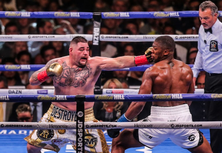 Andy Ruiz Jr beat Anthony Joshua last June