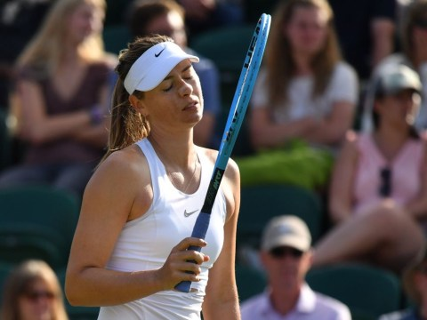 Teary-eyed Maria Sharapova speaks out after first-round retirement at Wimbledon