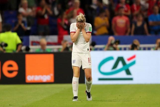 Ellen White drew England level in the first half