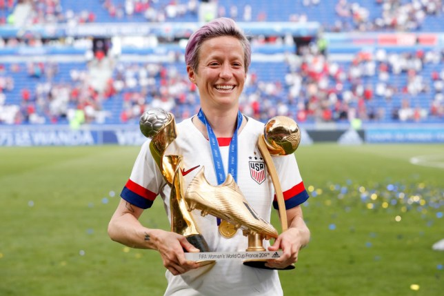 Megan Rapinoe won the Golden Boot and Golden Ball