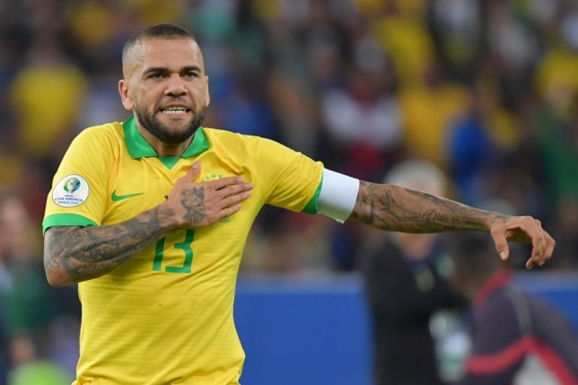 Dani Alves is a free agent this summer