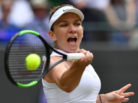 Simona Halep reacts to reaching Wimbledon semi-finals after fightback vs Zhang Shuai
