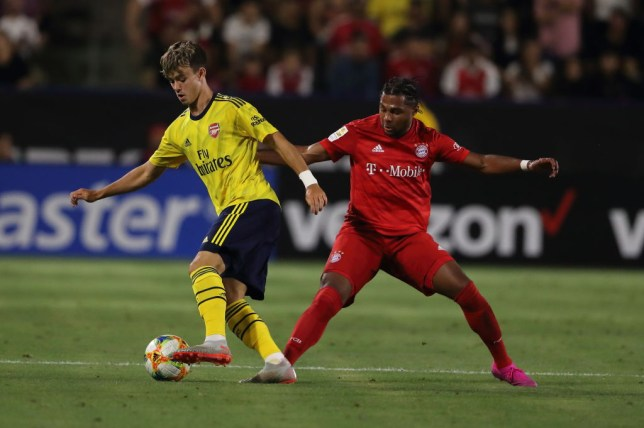 Robbie Burton impressed as a substitute in Arsenal's pre-season win over Bayern Munich