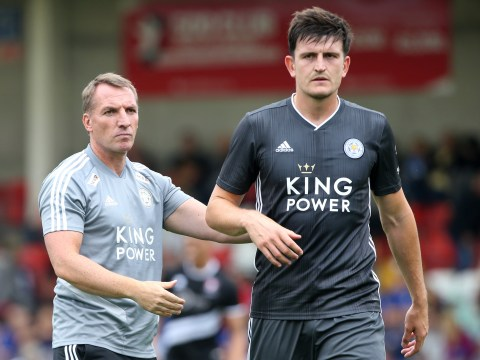 Brendan Rodgers denies rumours that Manchester United are close to signing Harry Maguire