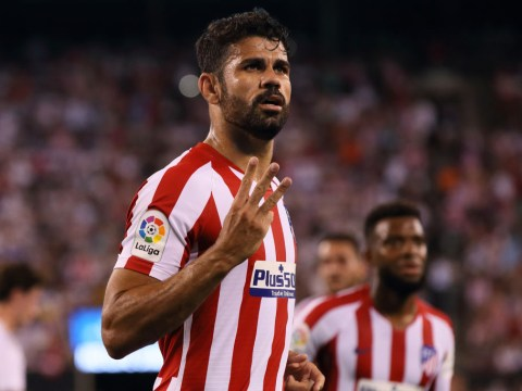 Diego Costa scores four before getting sent off as Atletico thrash rivals Real Madrid