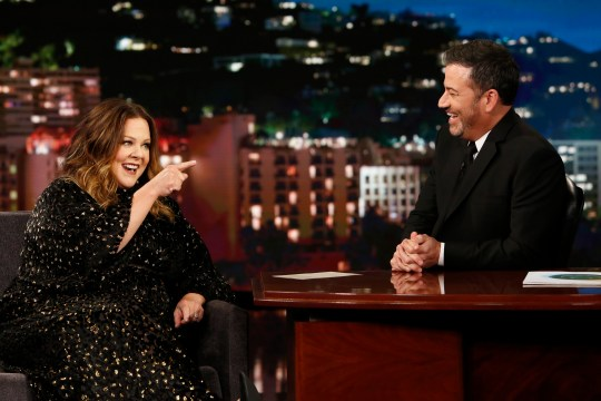 Melissa McCarthy and Jimmy Kimmel
