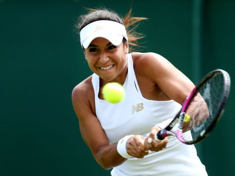Heather Watson first Brit to book spot in second round at Wimbledon