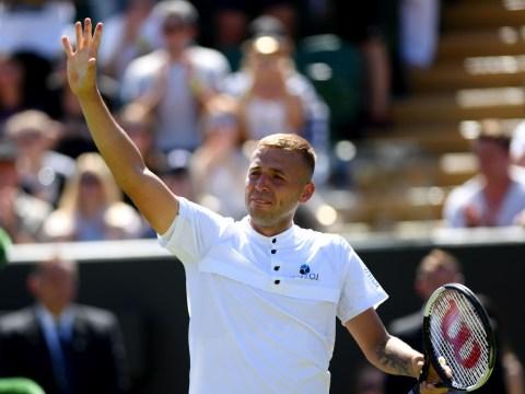 Dan Evans breaks down in tears after booking spot in Wimbledon round three