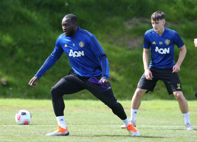 Romelu Lukaku missed Manchester United training on Wednesday