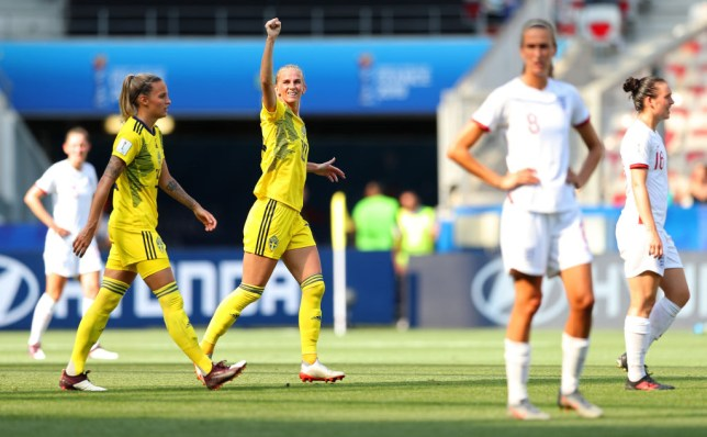 Sofia Jakobsson scored the winning goal for Sweden against England