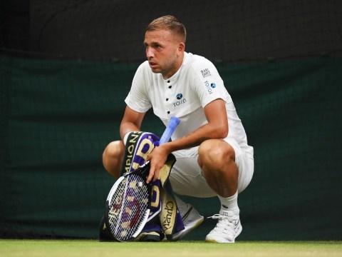 Dan Evans reacts to suffering Wimbledon heartbreak as Konta books Kvitova last-16 clash