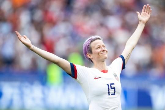 US Women's Soccer Team co-captain Megan Rapinoe