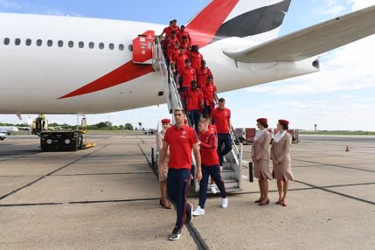 Arsenal flew out for their pre-season tour without Laurent Koscielny