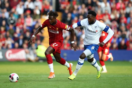 Divock Origi was also on the scoresheet at Prenton Park
