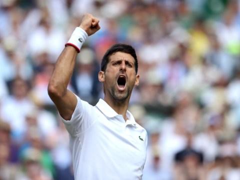 Novak Djokovic awaits Roger Federer or Rafael Nadal in the Wimbledon final