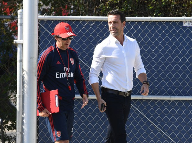 Edu has joined up with Unai Emery's Arsenal first team squad on their pre-season tour of America