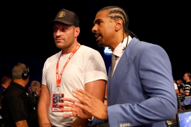 David Haye and Tyson Fury attended Dubois vs Gorman on Saturday night