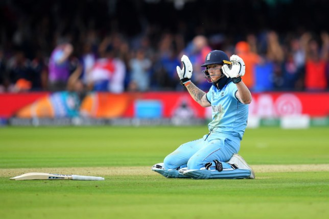 Ben Stokes inadvertently knocked the ball to the boundary ropes
