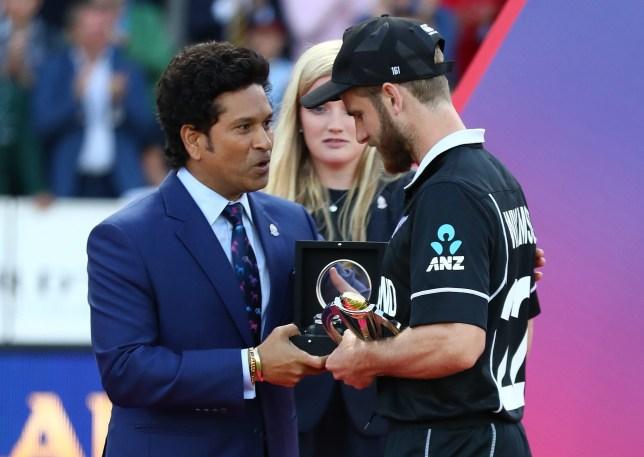 Sachin Tendulkar handed New Zealand star Kane Williamson the World Cup player of the series award