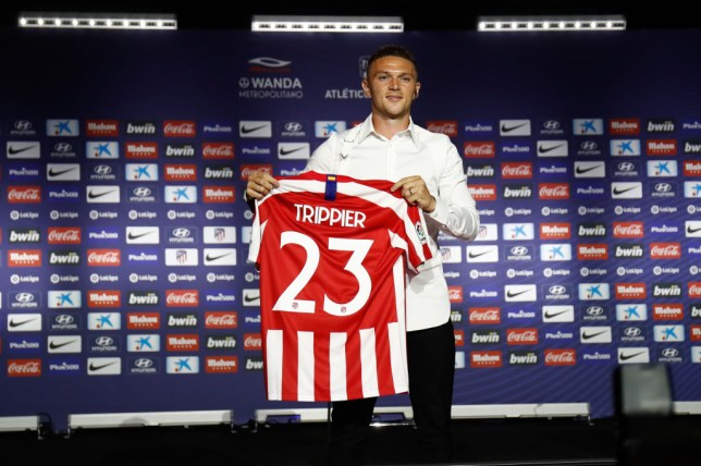 Kieran Trippier is unveiled at Atletico Madrid