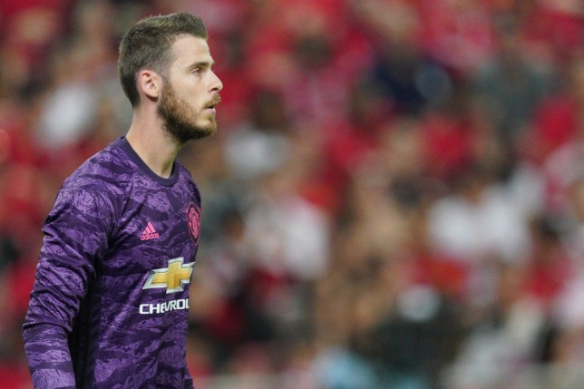 David De Gea in action for Man United against Inter
