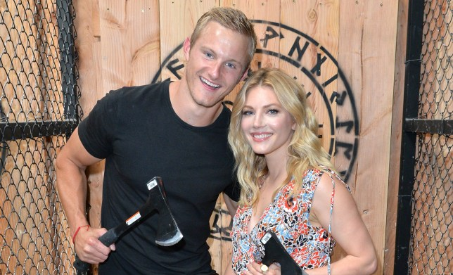 Vikings' Alexander Ludwig and Katheryn Winnick