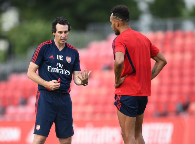 Unai Emery and Pierre-Emerick Aubameyang