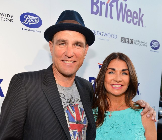 Vinnie Jones with his wife Tanya Jones
