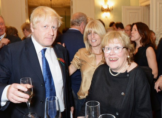 Boris Johnson, his sister Rachel Johnson and mother Charlotte Johnson Wahl in 2014