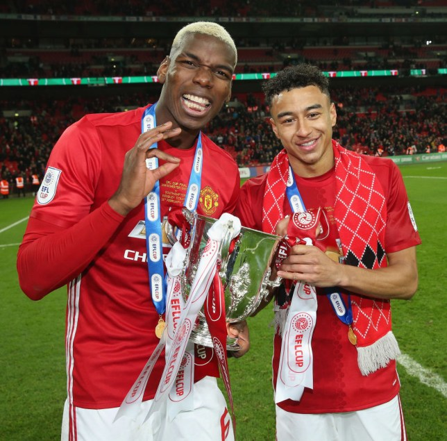 Jesse Lingard and Paul Pogba, still friends it seems (Picture: Getty)