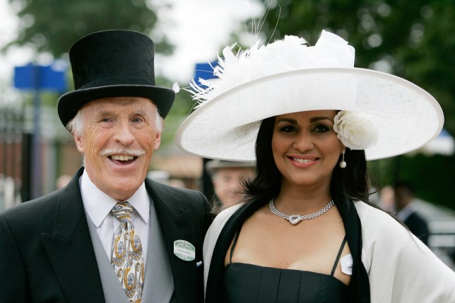 Bruce Forsyth and Wilnelia at ascot