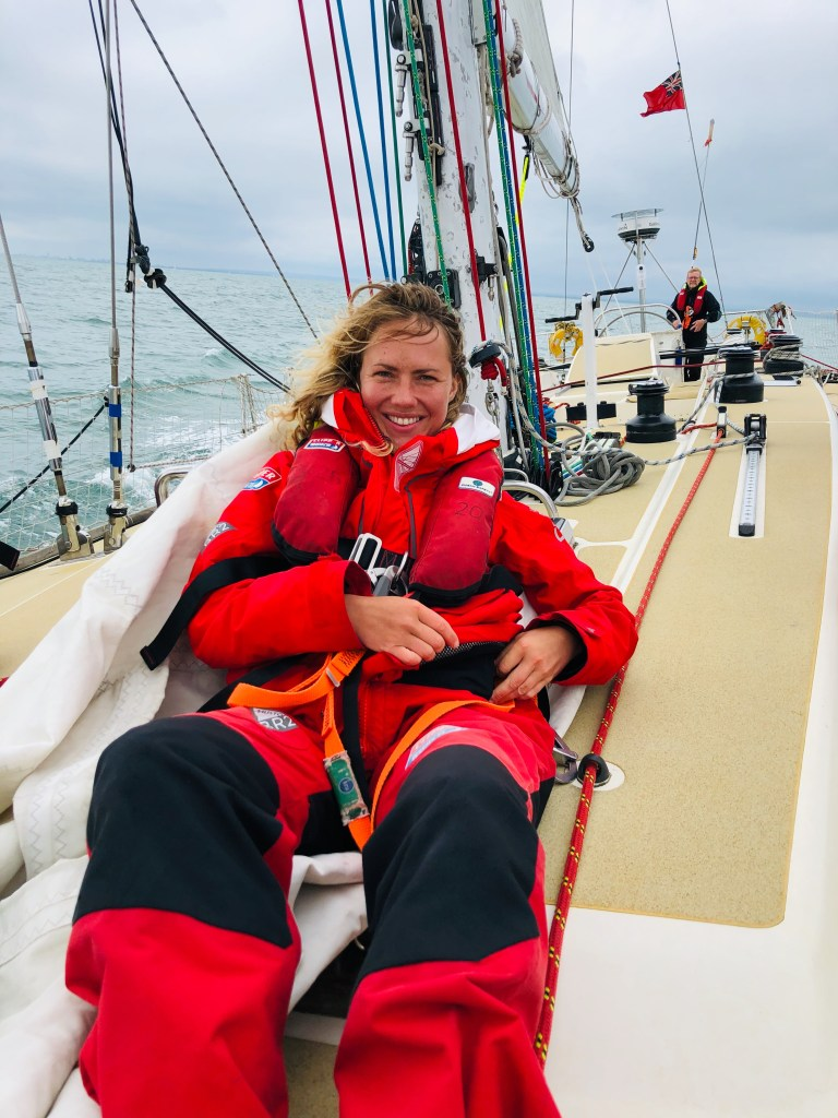 Sadie gets to grips with sailing during her Clipper Round The World training