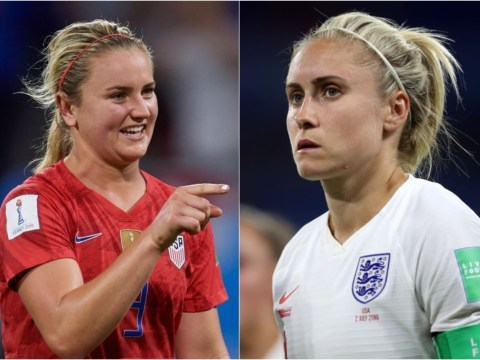 USA's Lindsey Horan apologises to Steph Houghton for upsetting her during interview after England's World Cup defeat