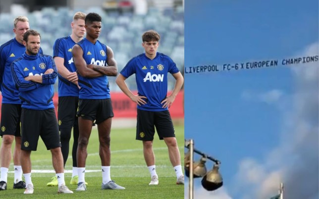 Manchester United players were reminded of Liverpool's success