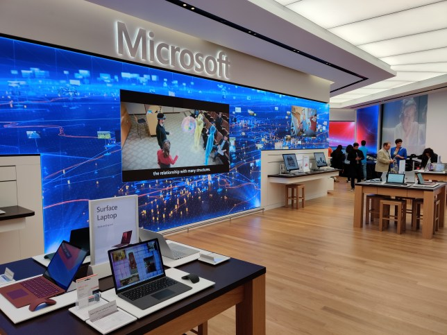 A look inside the new Microsoft store opening in Oxford Circus (Jeff Parsons/Metro.co.uk)