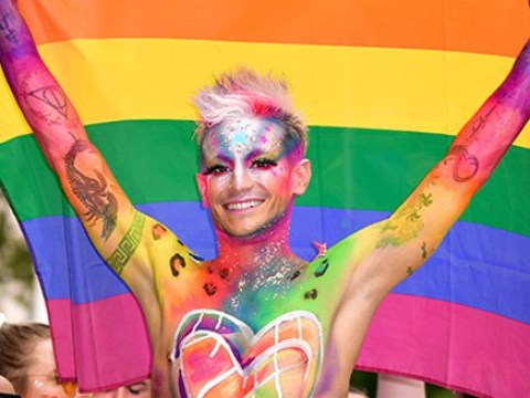 Frankie Grande shares a sweet kiss with boyfriend at World Pride March in New York