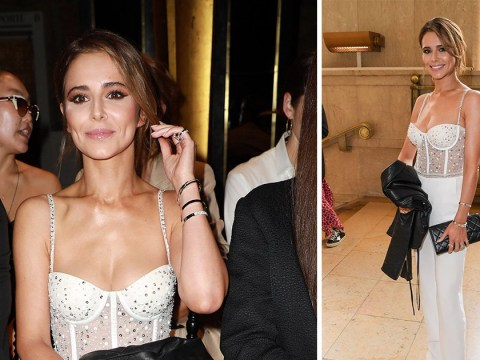 Cheryl is feeling herself in white corset as she attends Paris Fashion Week after 36th birthday