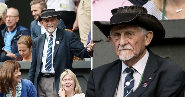 Steward David Spearing at Centre Court during the Wimbledon tennis tournament