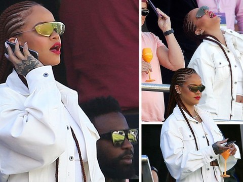 Rihanna shocks fans with surprise appearance at the Cricket World Cup in Durham of all places