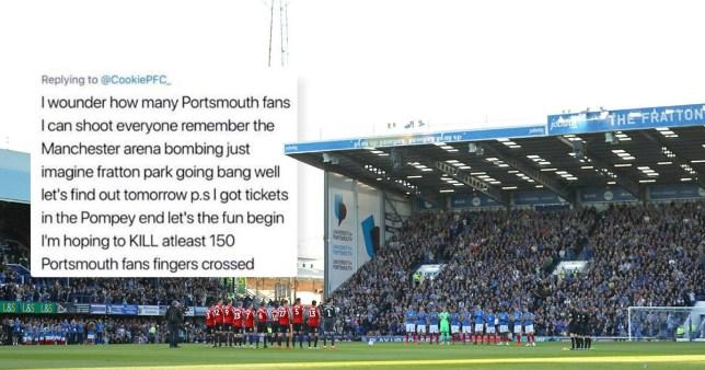 Kieran Richardson threatened to shoot Portsmouth fans on Twitter