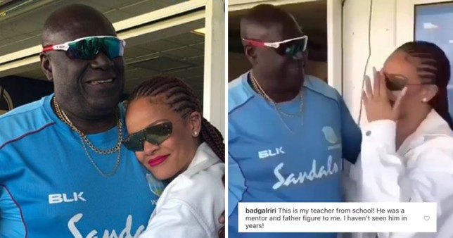 Rihanna reunites with teacher at Cricket World Cup in Durham