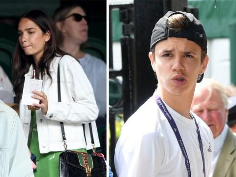 Romeo Beckham joins brother Brooklyn's girlfriend Hana Cross at Wimbledon