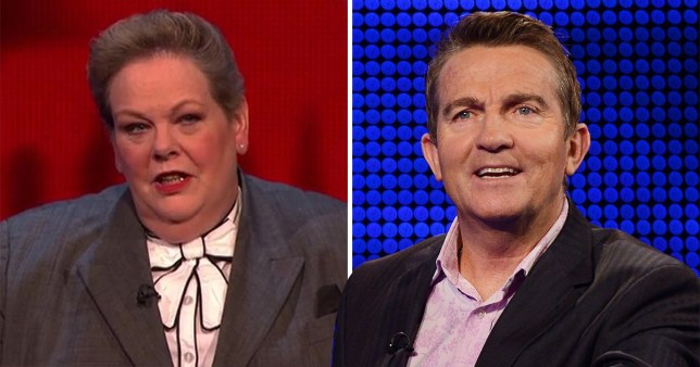 Anne Hegerty and Bradley Walsh