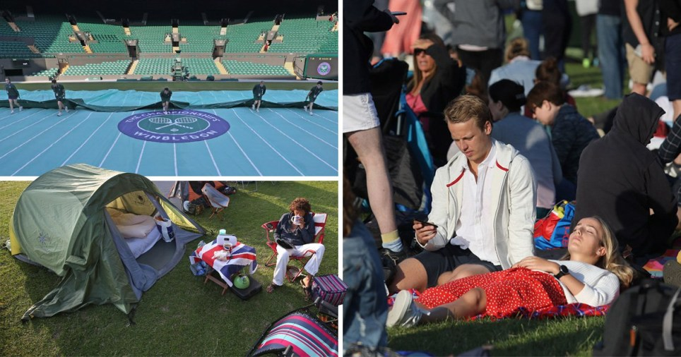 Wimbledon spectators are in for another sunny day on the courts