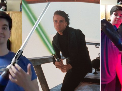 Star Wars fan born without hand has lightsabre attached to his arm
