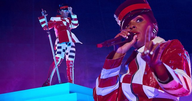 Janelle Monae performs at London's Wembley Arena