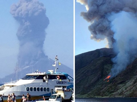 One dead as volcano erupts in Italy sending tourists fleeing for their lives