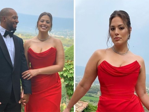 Ashley Graham is doing things to us as she owns silky dress of our dreams while celebrating Sophie Turner and Joe Jonas