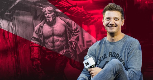 Hellboy and Jeremy Renner