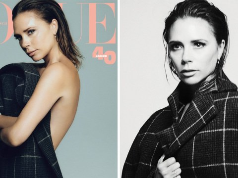 Victoria Beckham strips off for Vogue cover as she says it took 'courage' to turn down Spice Girls reunion